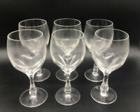 6 Antique Josephinenhutte Josair Germany Silhouette Water Goblets Cut Glass Wine