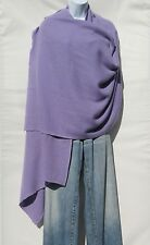 100% Cashmere Shawl/Wrap 4 Ply Hand Loomed Nepal Mini Herringbone Lavender