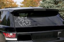 "Tribal Wolf  tattoo art Nice Silhouette Decal Sticker car truck 12""Charcoal Gray"