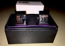 21st Birthday Cufflinks Silver Plated  Beautifully Presented In Gift Box