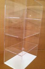 """Acrylic Countertop Display Case 12""""x7""""x 20.5"""" Show Case/ Select Shelves NO DOOR"""