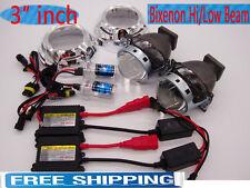 """3"""" Bi-Xenon Retrofit Conversion Projector Bulb Lens HID Xenon Kit,Shroud Combo"""