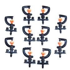 10× Garden Irrigation Tool Knob Micro G Sprinkler + Head Shelf Watering Set New