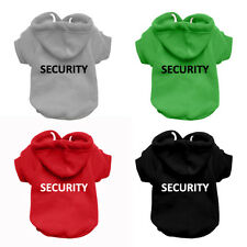 SECURITY Dog Sweatshirt Hoodie - Dog Sweater - Dog Jumper - Printed Dog Clothing
