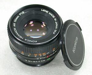 Konica Hexanon AR 50mm F1.8 Manual Focus Standard Lens No. 7025059 Ref. A
