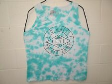 To Write Love on her Arms Self Harming Official Tie Dye Tank Top 2XL Aqua