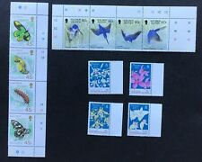 SOLOMON ISLANDS 12 MNH STAMPS 1987. BUTTERFLY, CHRISTMAS AND KINGFISHER