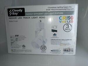 Cloudy Bay Indoor LED Square Track Head CRI90 Vivid LED Lighting 3pack White NEW