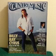 Country Music January- February 1995 Magazine Billy Ray Cyrus, Vince Gill Poster