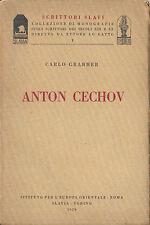 ANTON CECHOV - CARLO GRABHER - ISTITUTO PER EUROPA ORIENTALE 1929