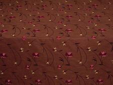 Prestigious Textiles Mulberry Red Floral Cordelia Faux Silk Curtain Fabric