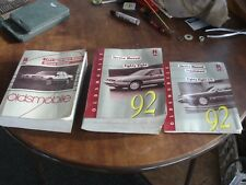 (3) 1991 &1992 Oldsmobile Eighty- Eight Royale Factory Service Repair Manual.