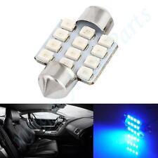 1pc Blue Festoon Dome Map Interior LED Light Bulbs Car Roof 12-SMD Lamp 31MM