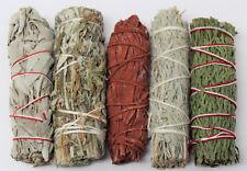 Sage Bundle Smudge Kit 5 Stick SAMPLER White, Black, Blue, Cedar, Dragons Blood