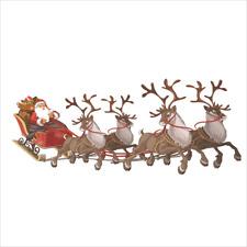 Large Santa Sleigh Window Cling