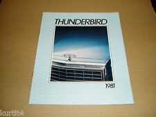 1981 Ford Thunderbird Heritage Town Landau sales brochure ORIGINAL literature