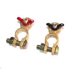 Black/Red Wing Nut Marine Brass Battery Terminal Pos / Neg Stud Size M8 2pcs
