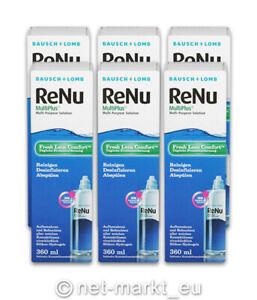 RENU MultiPlus Kontaktlinsen-Kombi-Pflegemittel 6x360ml inkl.Behälter