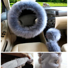 3PCS Warm Soft Plush Car Steering Wheel Ornaments Covers Xmas Christmas Gift NEW