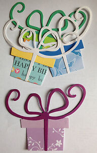 BIG Present Gifts Parcels Presents Birthday and Christmas Mixed Die Cuts