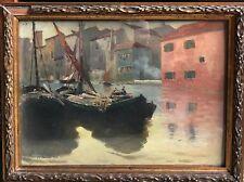 Nikolaus VON SCANAVI (1853-1936) Lagune de Murano magnifique tableau 1908 impres