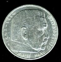 1936 A - GERMANY 5 Reichsmark - SILVER - AU CONDITION