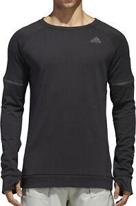 adidas Supernova Mens Running Sweatshirt - Black