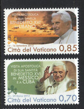 Vatican 2013 APOSTOLIC JOURNEYS OF POPE BENEDICT XVI (2012) MNH Set