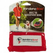 Bandana Bowl Built-In Waterproof Pet Bowl (Large or Small)