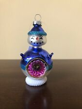 Shiny Brite Christmas Glass Ornament - Snowman