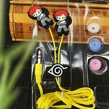 Naruto Gaara silica gel earphone headset headphone 3.5mm insert anime earphones