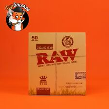 50 Pack 1 Box Raw Organic Hemp King Size Slim Rolling Papers Spain Authentic