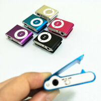 Mini USB Clip MP3 Music Media Players Metal Support 32GB Micro SD TF Card