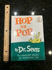 """Hop on Pop Dr. Seuss beginner hardcover book 20 6.75""""x 9.25"""""""