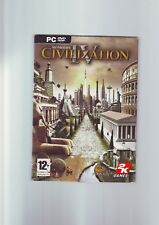 SID MEIER'S CIVILIZATION IV - ORIGINAL EDITION PC GAME WITH MANUAL & TECH TREE