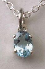 Aquamarine Lab-Created/Cultured Fine Necklaces & Pendants