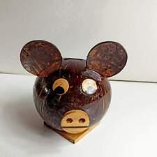 New ListingCoin Bank Piggy Money Box Vintage,Coconut shell Savings Cast fashion Gift Box