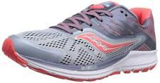 Saucony Women's Ride 10 Running Shoe, Fog/Red, 11 B US