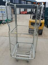 More details for 5 x roll cage container , rolling pallet, stillage , 3 sided mesh