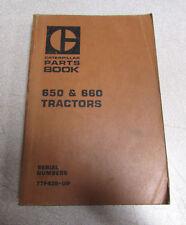 Caterpillar Cat 650 660 Tractor Parts Book Catalog Manual 77F439 1974