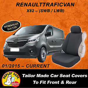 Canvas Car Seat Covers to fit RENAULT TRAFIC X82 VAN  SWB / LWB - 01/15- Current