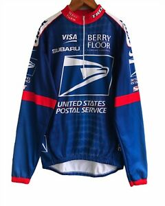 Men`s Nike Cycling long Sleev jersey Postal Service treck Size M made in Italy