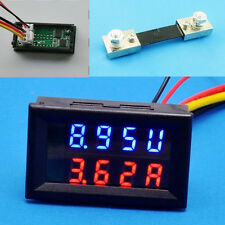 100V 100A DC Digital Voltmeter Ammeter LED Amp Volt Meter + Current Shunt New