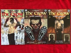 THE CROW WILD JUSTICE  1 2 3 SET JIM OBARR / KITCHEN SINK COMICS
