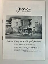 Vintage The Jackson Furniture Catalogue by Fleming Publishing 1950's