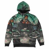 DGK Men's Hustlin Sublimated Fleece Long Sleeve Hoodie Multi-Color Clothing
