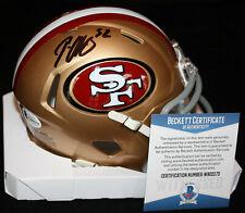 Patrick Willis signed Speed Mini Helmet, 49ers, Ole Miss, Beckett BAS