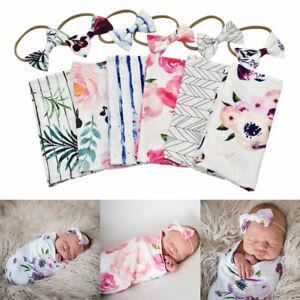 Muslin Baby Sleeping Bag Swaddle Wrap Baby Sleeping Blanket Infant Headband