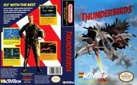 Thunderbirds Nintendo Nes Cleaned & Tested Cart Only Authentic