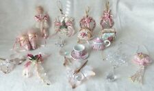 Vintage Victorian Style Christmas Ornaments Lot of 15